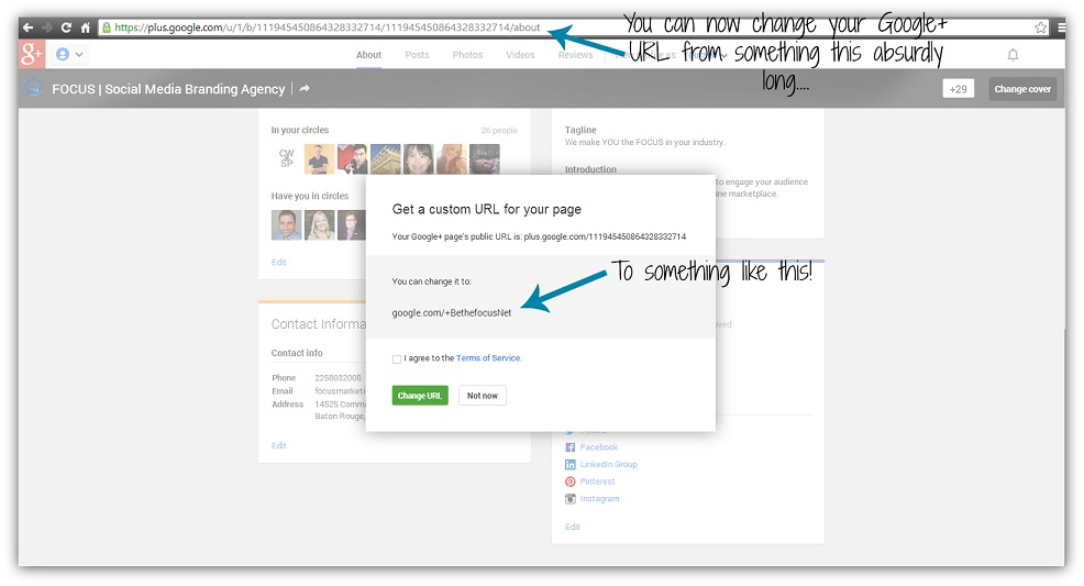 Customizing Your Google+ URL: Are you eligible?